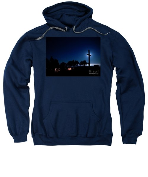 Ventura Ca Cross At Moonset Sweatshirt