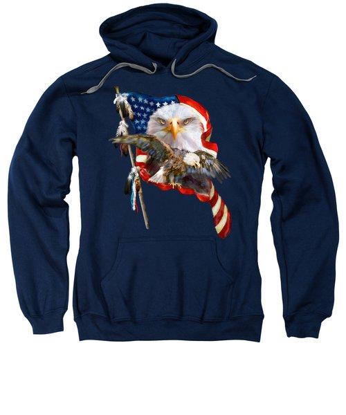 Vision Of Freedom Sweatshirt by Carol Cavalaris