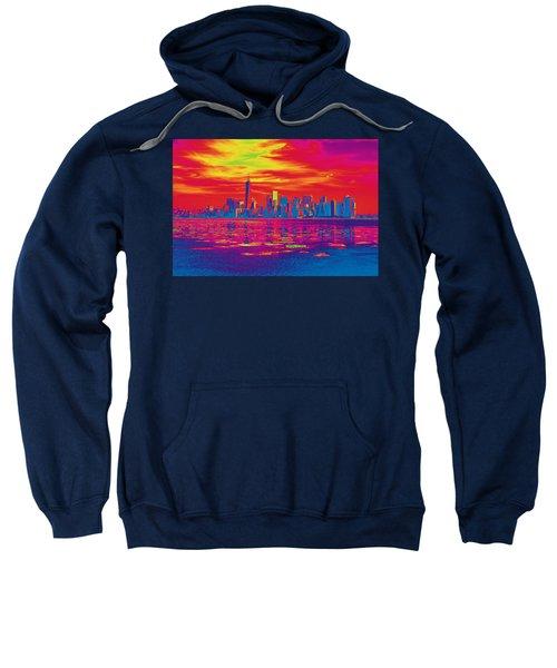 Vivid Skyline Of New York City, United States Sweatshirt