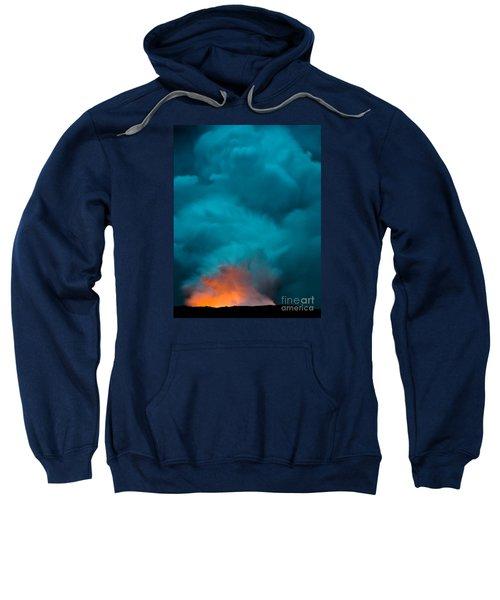 Volcano Smoke And Fire Sweatshirt
