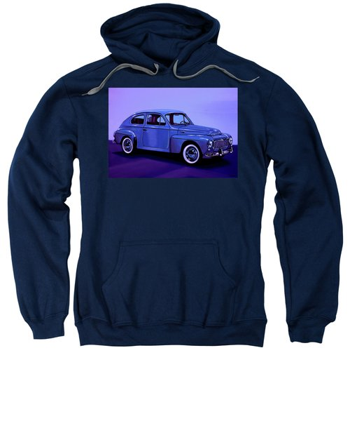 Volvo Pv 544 1958 Mixed Media Sweatshirt