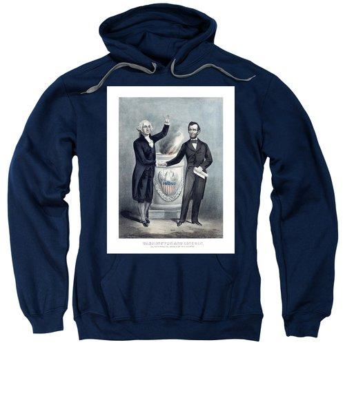 Washington And Lincoln Sweatshirt