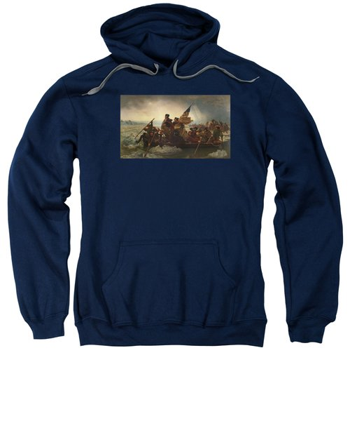 Washington Crossing The Delaware Painting  Sweatshirt