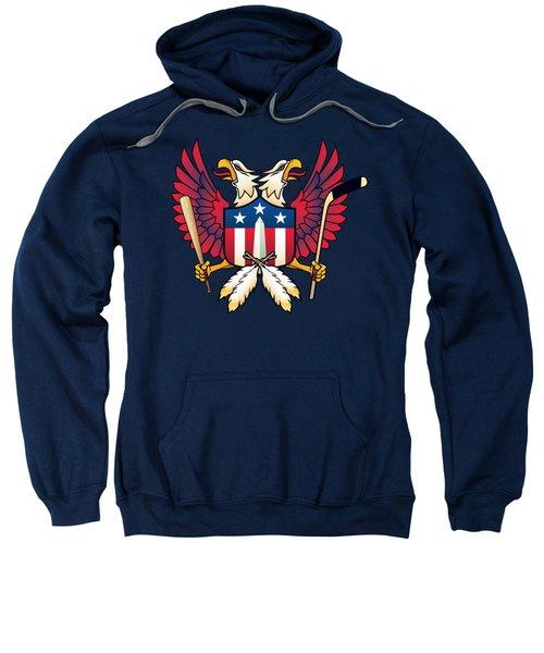 Washington Dc-double Eagle Sports Fan Crest Sweatshirt