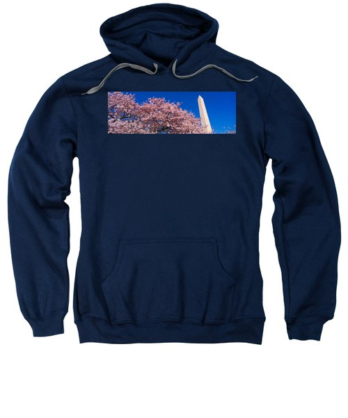 Washington Monument & Spring Cherry Sweatshirt by Panoramic Images