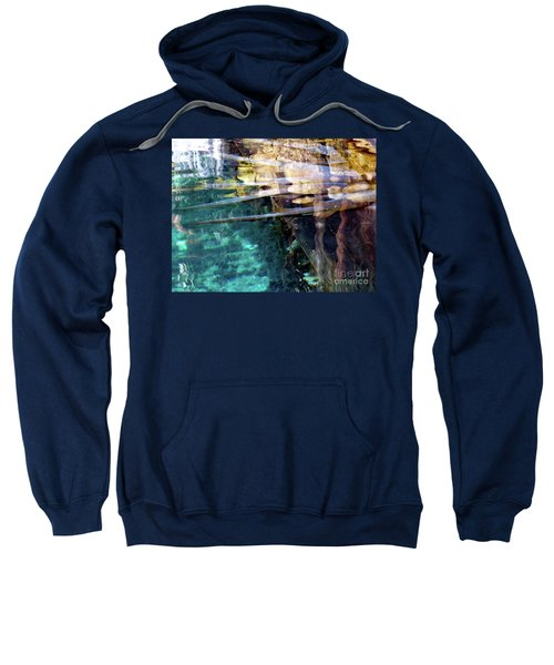 Sweatshirt featuring the photograph Water Reflections by Francesca Mackenney