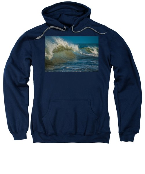 Sweatshirt featuring the photograph Wave by Stephen Holst