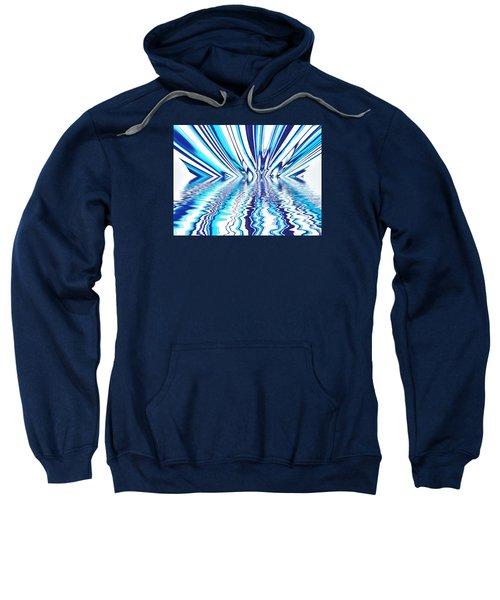Wavy Blues  Sweatshirt by Sandy Taylor