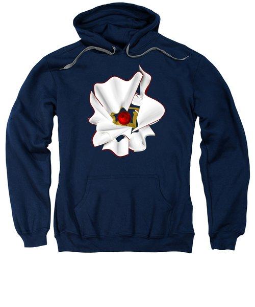 White Abstract Flower Sweatshirt