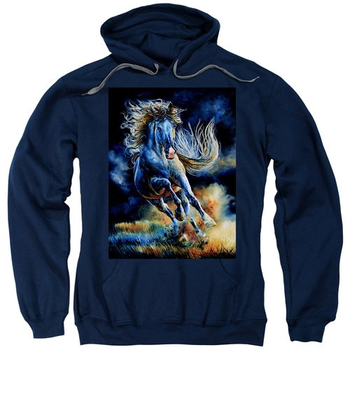 Sweatshirt featuring the painting Wild And Free by Hanne Lore Koehler