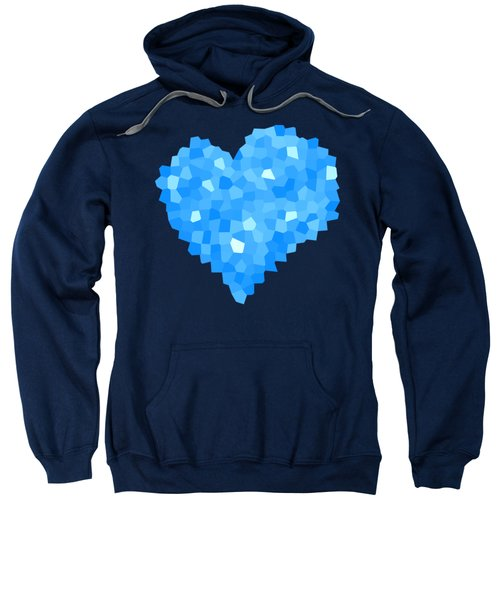 Winter Blue Crystal Heart Sweatshirt