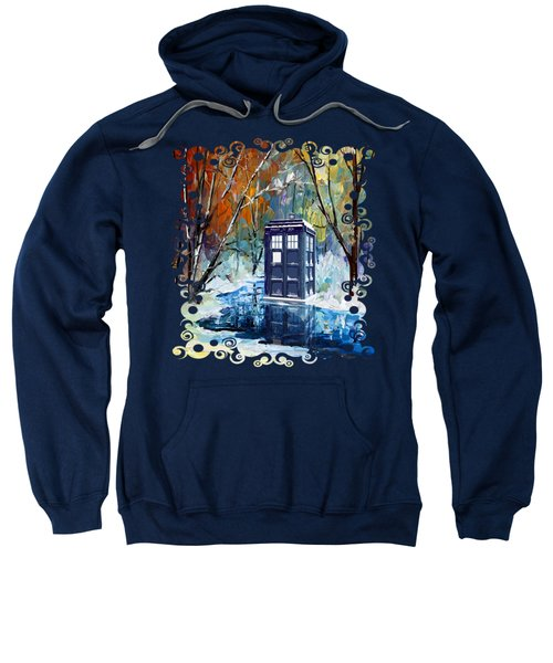 Winter Blue Phone Box Sweatshirt