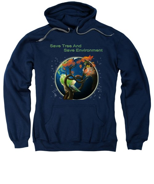World Needs Tree Sweatshirt by Artist Nandika  Dutt