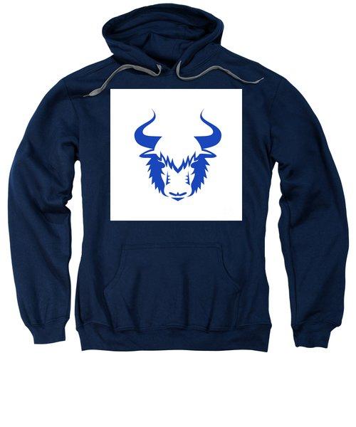 Yak Head Front Retro Sweatshirt