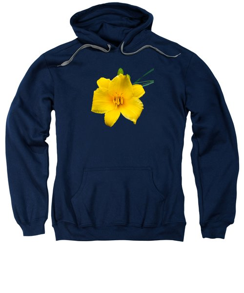 Yellow Daylily Flower Sweatshirt