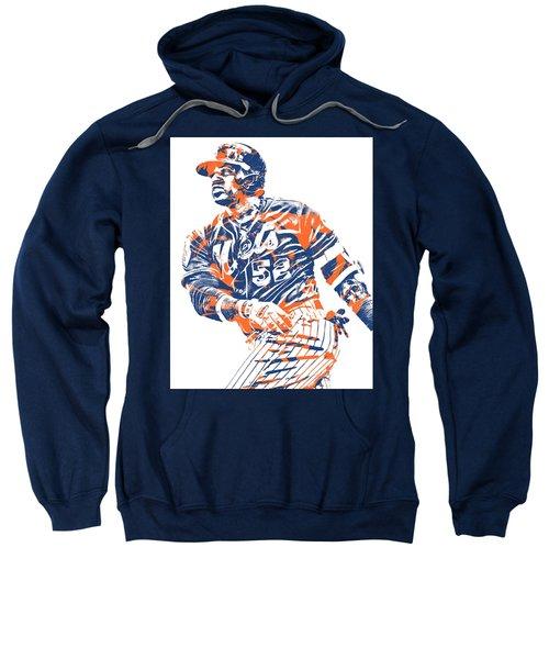 Yoenis Cespedes New York Mets Pixel Art 10 Sweatshirt