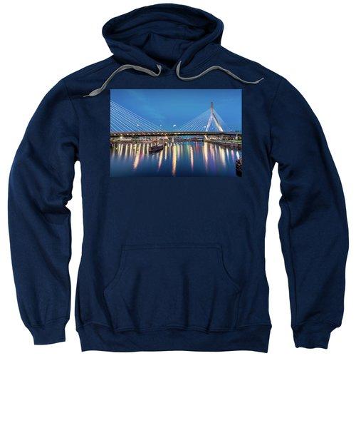 Zakim Bridge And Charles River At Dawn Sweatshirt