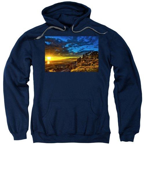 Santa Monica Bay Sunset - 10.1.18 # 1 Sweatshirt