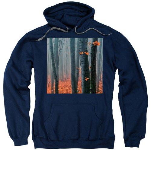 Sweatshirt featuring the photograph Orange Wood by Evgeni Dinev