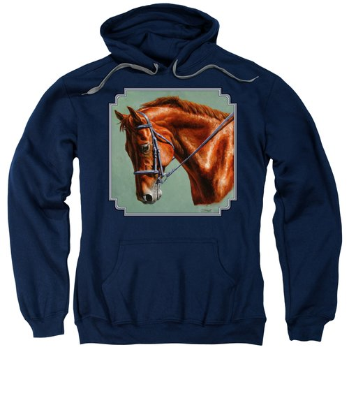 Chestnut Dressage Horse Portrait Sweatshirt