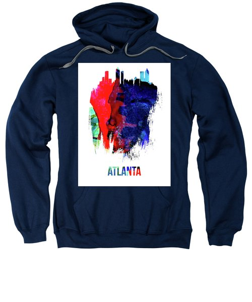 Atlanta Skyline Brush Stroke Watercolor   Sweatshirt