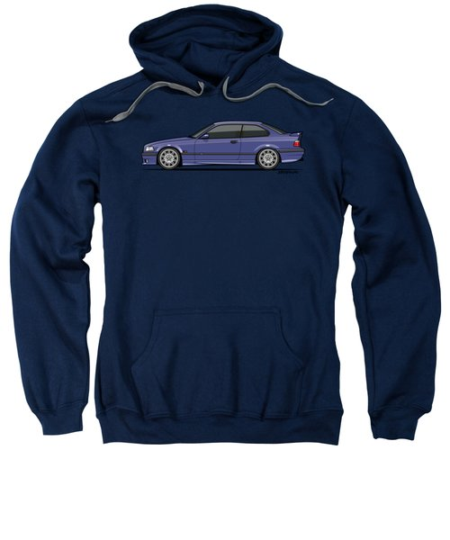 Bavarian E36 3-series M-drei Coupe Techno Violet Sweatshirt