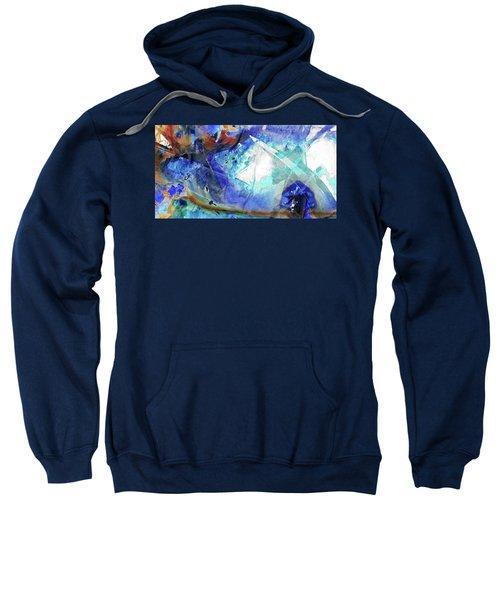 Blue Abstract Art - Storm Chaser - Sharon Cummings Sweatshirt