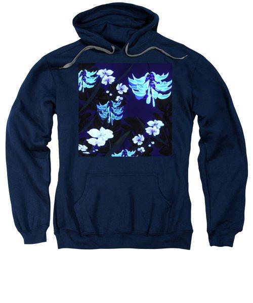Blue Jungle Floral Sweatshirt