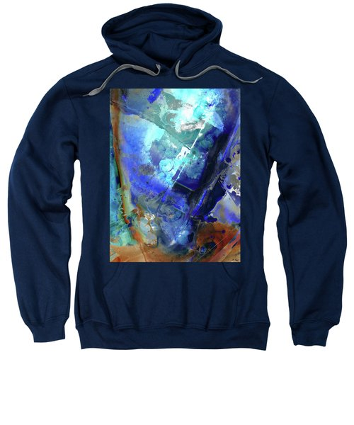 Blue Modern Abstract Art - After The Storm - Sharon Cummings Sweatshirt
