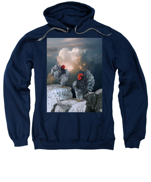 Blue Serama Pair Sweatshirt