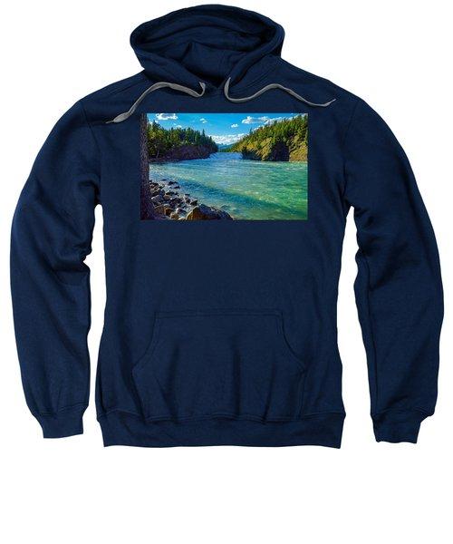 Bow River In Banff Sweatshirt