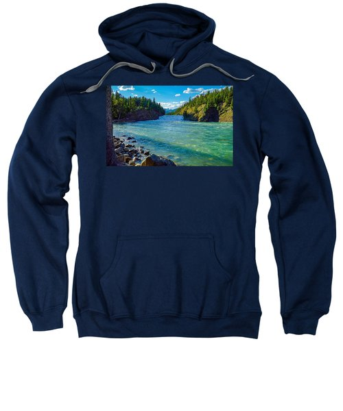 Bow River In Banff Sweatshirt