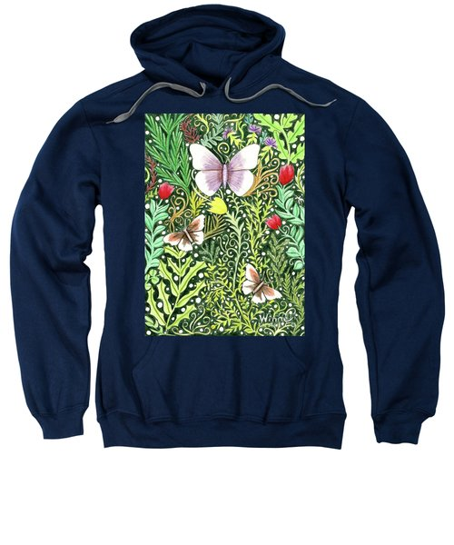 Butterflies In The Millefleurs Sweatshirt