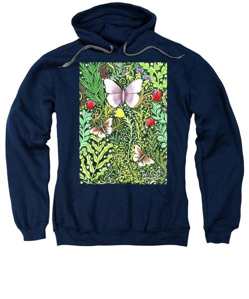 Butterflies In The Millefleurs Sweatshirt