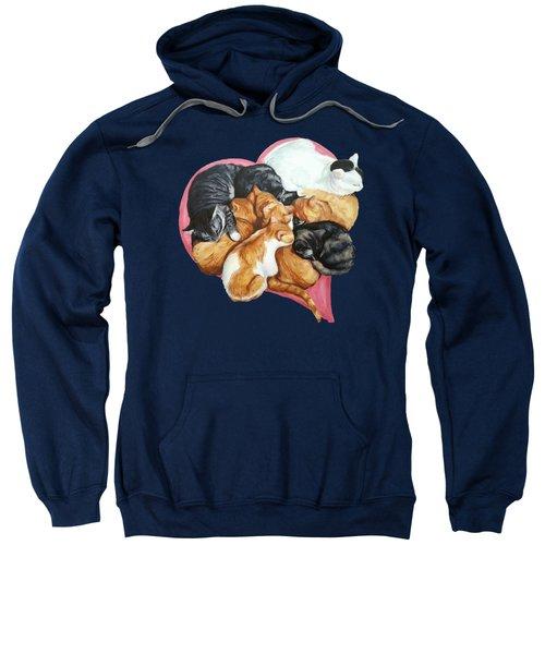 Cat Cuddle Puddle Of Love Sweatshirt