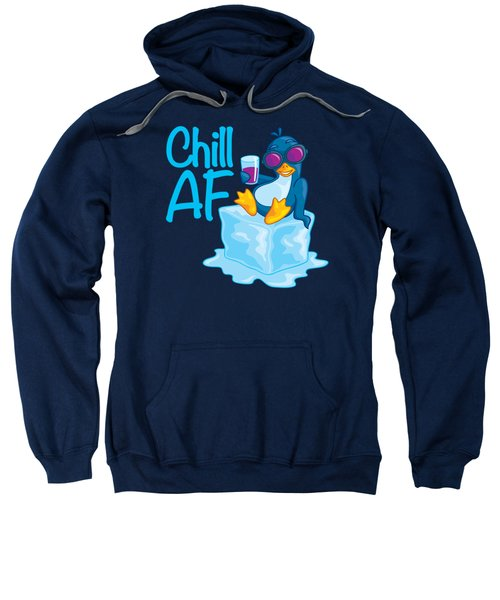 Chill Af Penguin On Ice Sweatshirt