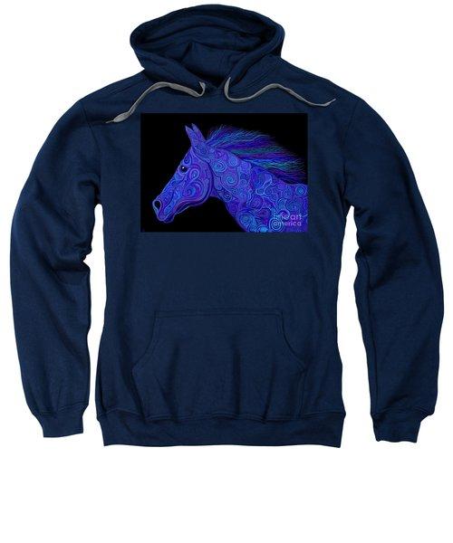 Colorful Blue Stallion Sweatshirt
