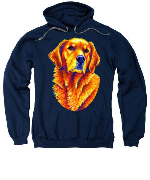 Colorful Golden Retriever Dog Sweatshirt