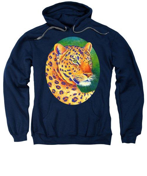 Colorful Leopard Portrait Sweatshirt