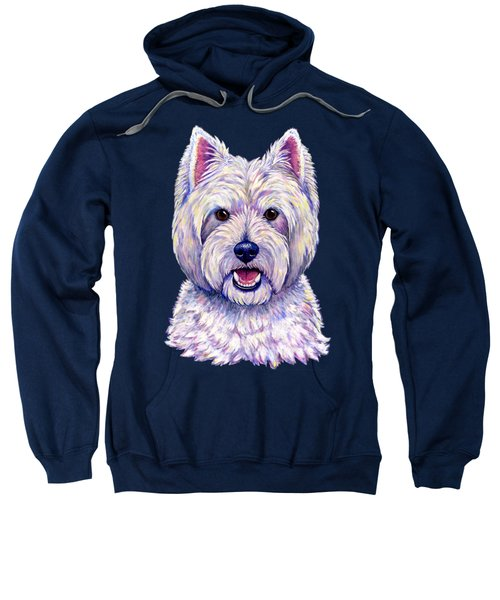 Colorful West Highland White Terrier Dog Sweatshirt