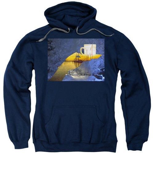 Cup Of Tea In The Winter Evening Sweatshirt