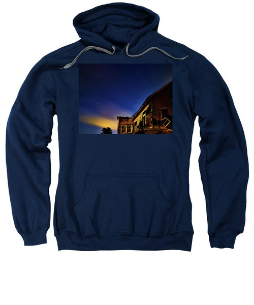 Decaying House In The Moonlight Sweatshirt