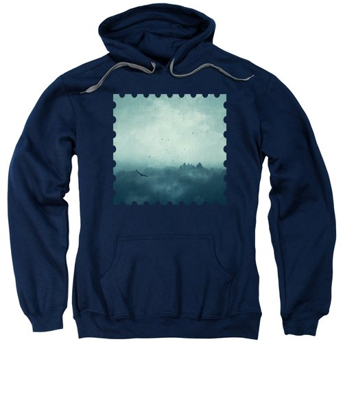 Flight Home - Mist Over Landscape Sweatshirt