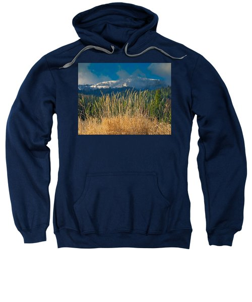 Gold Grass Snowy Peak Sweatshirt