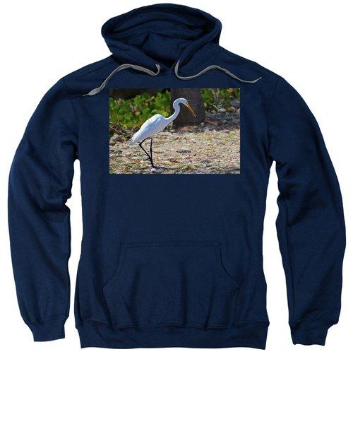 Great White Egret Hunter Sweatshirt