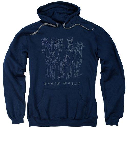 Horse Magic Line Drawing Horse Silhouette Design Sweatshirt
