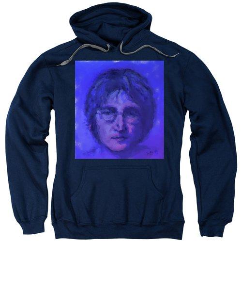 John Lennon Study In Blue Sweatshirt