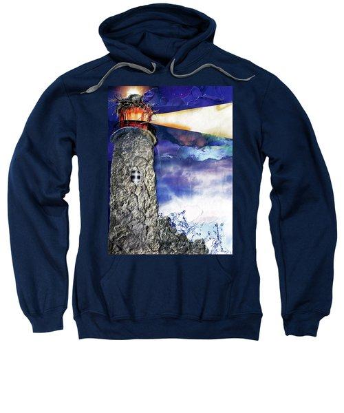 Light Of The World Torn Paper Collage Sweatshirt