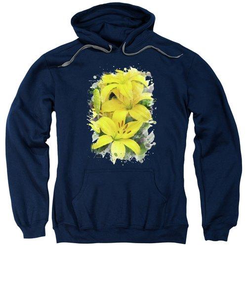 Lily Watercolor Art Sweatshirt