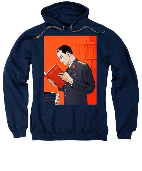 Man Is Reading Lenin Books Sweatshirt
